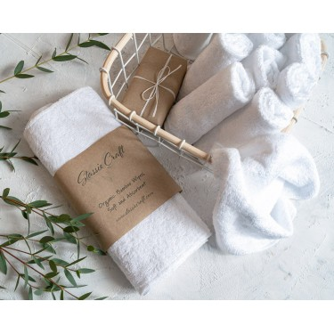 White Organic Bamboo Wipes