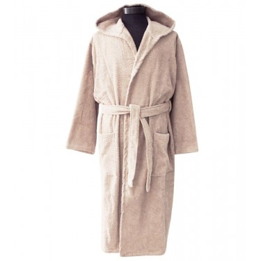 Beige Pure Cotton Male Bathrobe