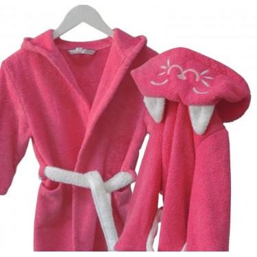 Kids' bathrobe Pink Cat
