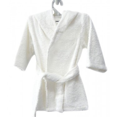 White Kids' bathrobe