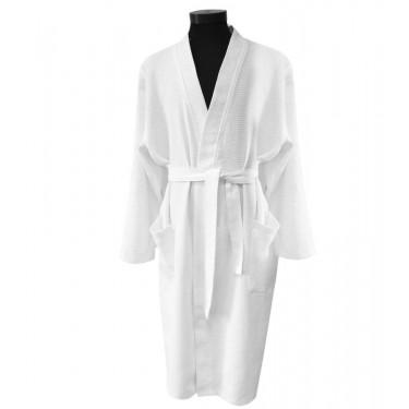 White Waffle Kimono Bathrobe
