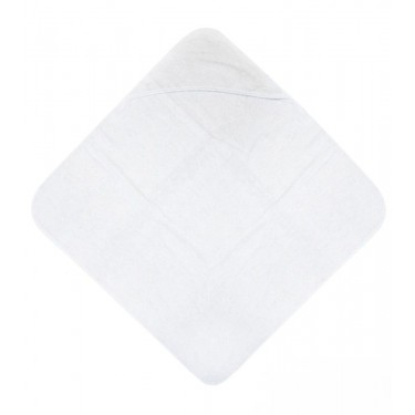 White baby hoody towel